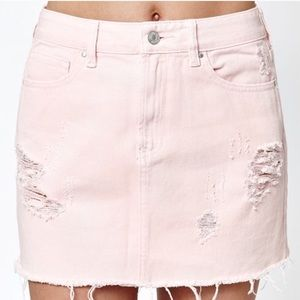 Pink Denim Skirt (26 Medium)